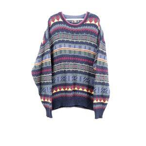 Vintage 90s Streetwear Geometric Crewneck Sweater
